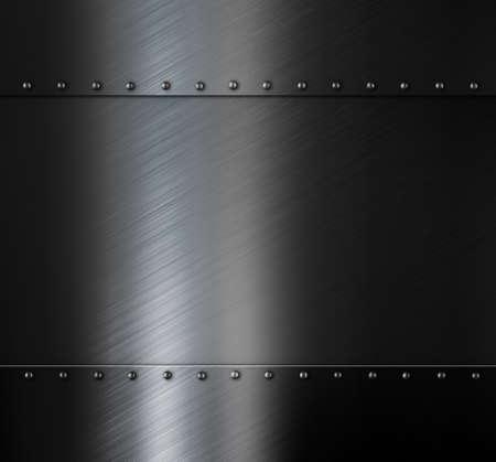 Dark brushed metal sheet background