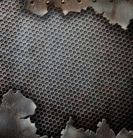 fiambres: grunge agrietado plantilla de fondo de metal