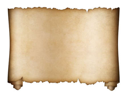 papier a lettre: parchemin ou d'un manuscrit âgées isolé sur blanc