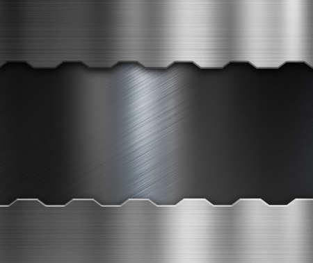 brushed: metal plate over black brushed metallic background