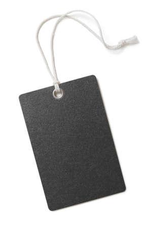 空白の黒い紙の価格またはギフト タグ白で隔離