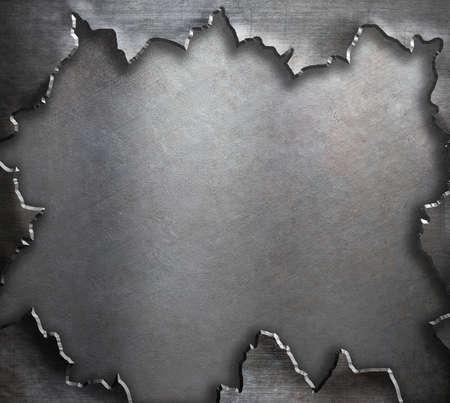 blatt: gerissen Grunge-Metall-Hintergrund-Vorlage