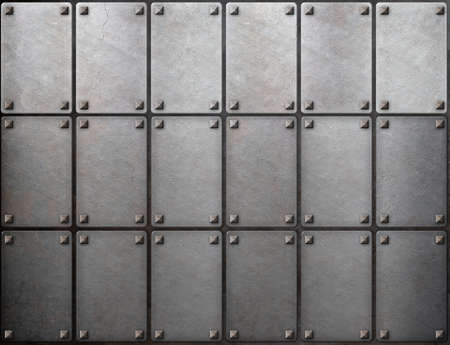 rivets: armour metal texture with rivets background