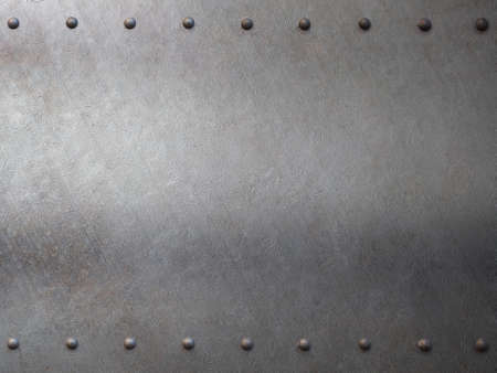 armoring: metal with rivets armour background or texture Stock Photo