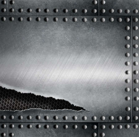rupture: torn metal armour background template