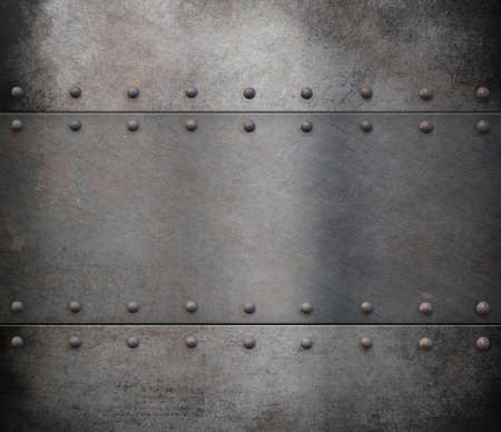 armoring: old steam punk metal background Stock Photo