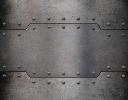 armoring: old metal armour plate background Stock Photo