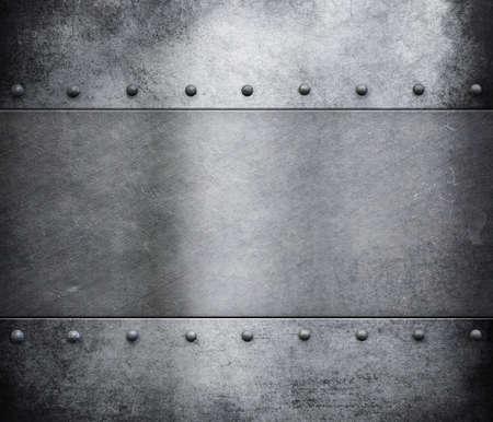 grunge metalen pantser met klinknagels achtergrond