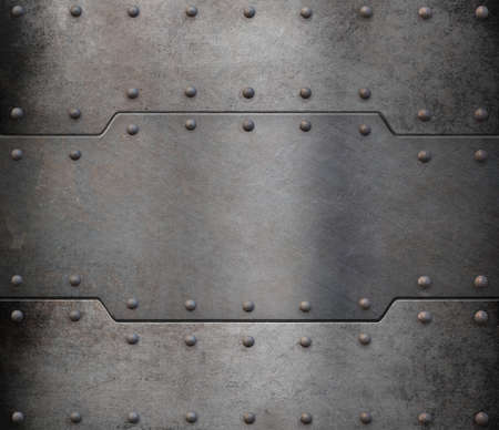 armoring: rusty metal armour plate background