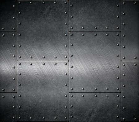 dark armour background with rivets Stok Fotoğraf