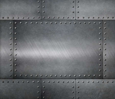 metal sheets with rivets armour background
