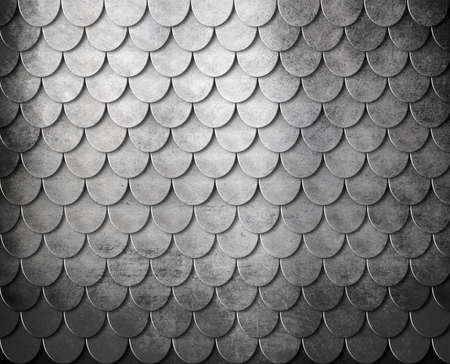 silver texture: grunge metal scales armor background