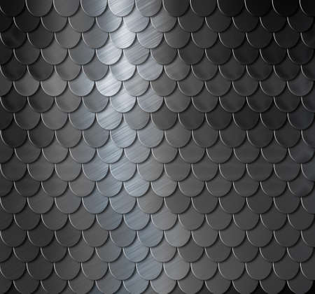 dark metal scales armor background