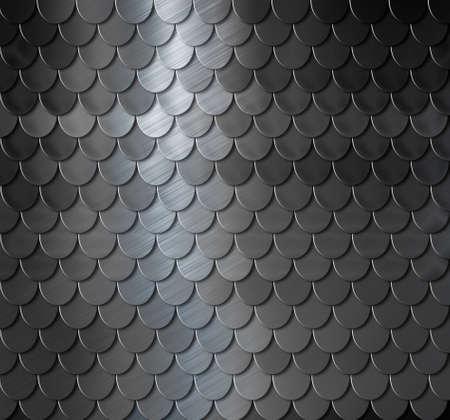 escamas de peces: Escalas de metal oscuro fondo armadura