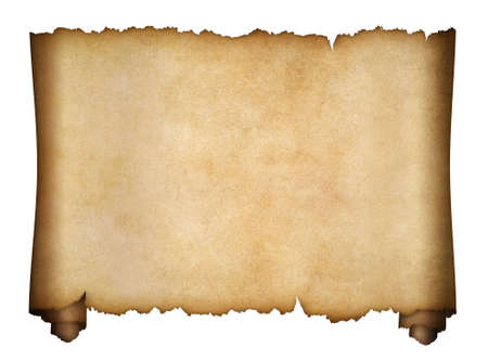 manuscript: parchment or aged manuscript isolated on white