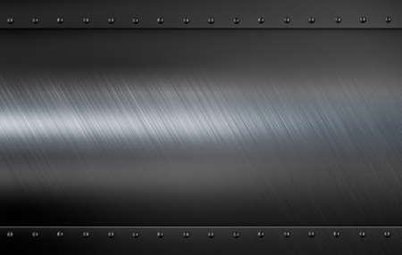 placa de metal con remaches armadura Ilustración 3D