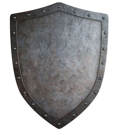 Big medieval coat of arms isolated on white 3d illustration Stock Photo