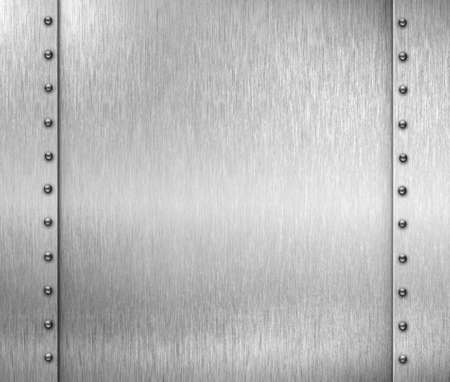rivets: brushed metal frame background with rivets Stock Photo