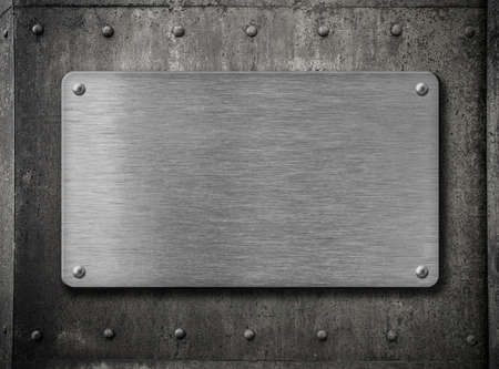 metal wall: metal plate over old grunge rusty background