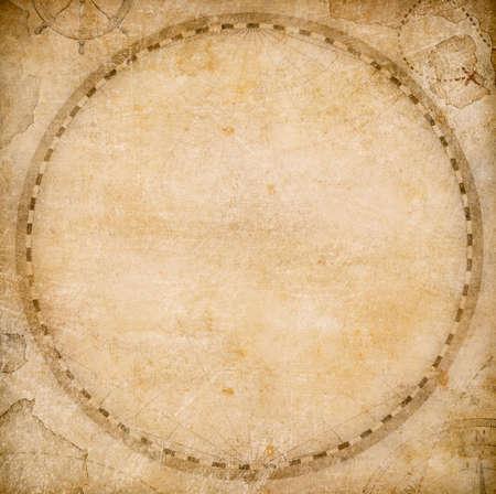 aged blank round world map or atlas stylization Reklamní fotografie - 57346325