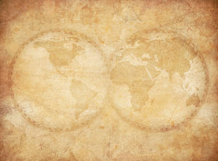 old world map vintage stylization based on image furnished by NASA