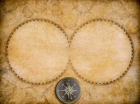 Carte du monde millésime blanc avec deux hémisphères 3d illustration Banque d'images - 57346335
