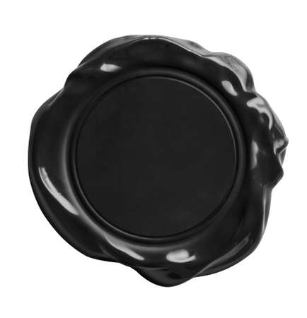wax: black wax seal isolated on white with clipping path included Stock Photo