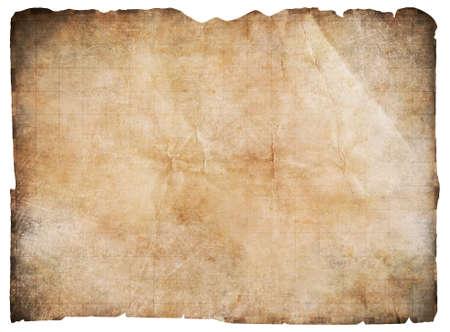 古い海賊の宝地図含まれて whitewith クリッピング パスの分離 写真素材