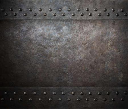 Roest metalen textuur met klinknagels achtergrond Stockfoto - 59991663