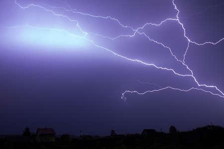 dark skies: storm sky with lgihting at night