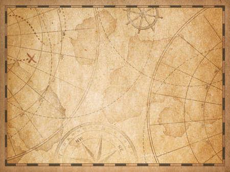old nautical map background Stok Fotoğraf