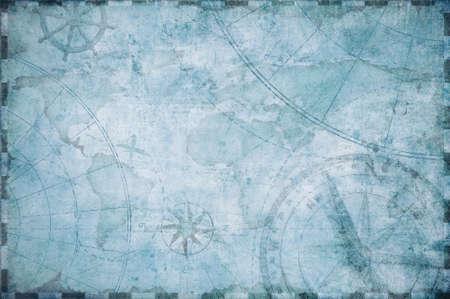 brujula: Fondo de la correspondencia del tesoro náutica antigua Foto de archivo