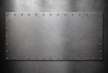armoring: old steel metal plate background