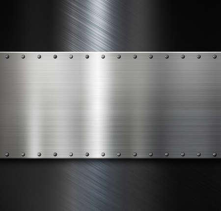 armoring: metal plate over dark steel background