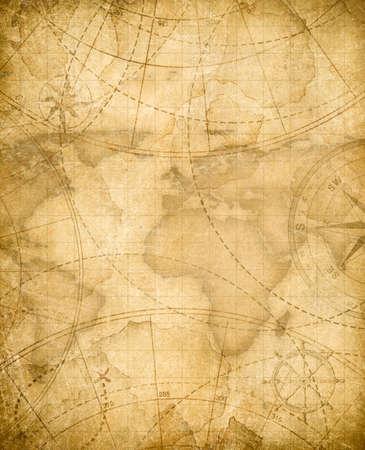 高齢者の海賊トレジャー マップの背景 写真素材