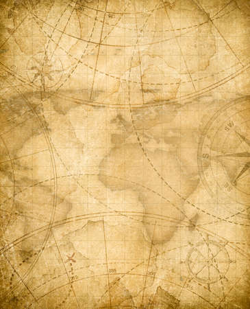aged pirates treasure map background Imagens - 71098528