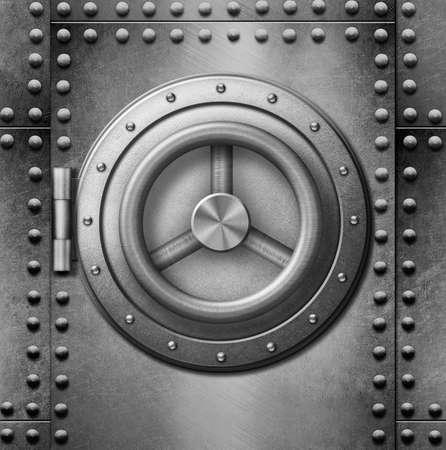 safe lock: metal safe or door 3d illustration