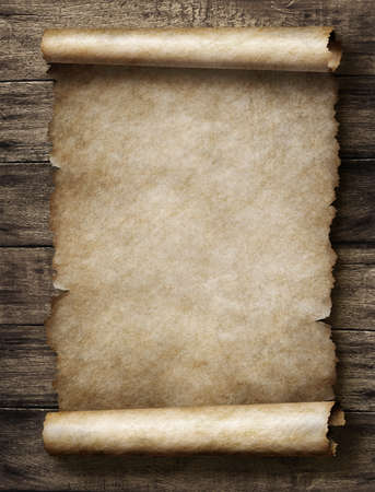 vintage parchment or scroll Stockfoto