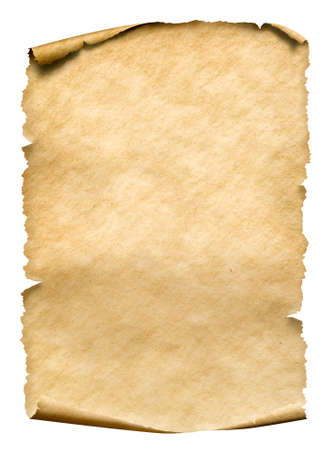 Oude papieren manuscript of perkament verticaal georiënteerd Stockfoto