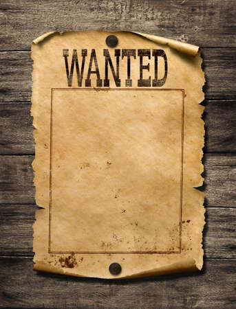 Gezocht voor beloning poster 3d illustratie