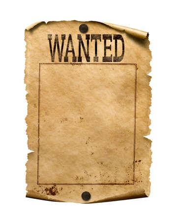 Gezocht voor beloning poster 3d illustratie geïsoleerd Stockfoto
