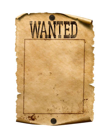 Wanted for reward poster 3d illustration isolated