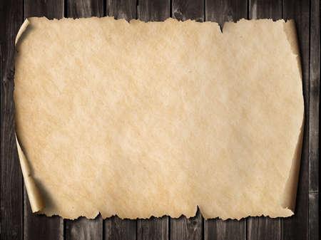 Zabytkowe pergaminie lub mapę 3d ilustracji