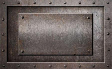 grille: old metal rusty or rustic frame background 3d illustration