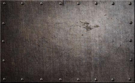 さびた金属板リベット背景 3 d イラスト 写真素材