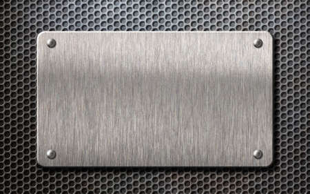 metal plate over comb grid background 3d illustration