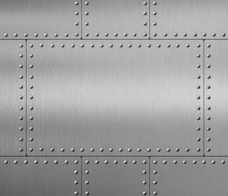 rivets: metal background with rivets 3d illustration