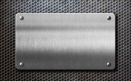 Metallplatte über Kamm Hintergrund 3D Abbildung Standard-Bild - 81013525