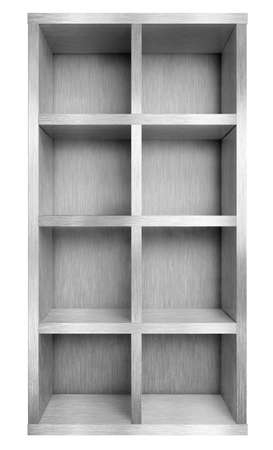 aluminum: Empty metal case or shelf isolated 3d illustration