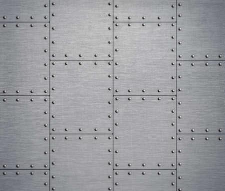 steel sheet: metal background with rivets 3d illustration
